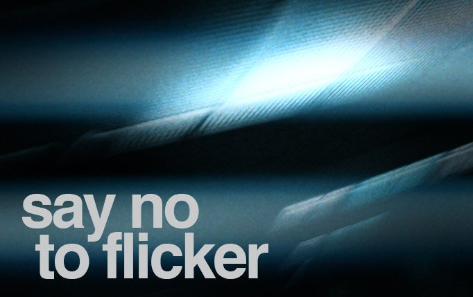 How to avoid video flicker in film an video.